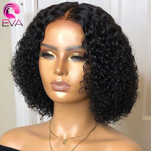 Image 3 - Eva 13x4 Lace Front Human Hair Wigs Pre Plucked With Baby Hair Brazilian Short Curly Lace Front Wig For Black Women Remy Hair