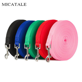 MICATALE Dog Leash For Medium Dogs Puppy Cat Walking Training Lead Rope Big Dog Nylon Rope Long Leashes 1.5 m /1.8 m /3 m /6 m image