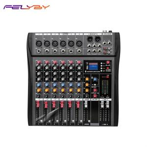 FELYBY Sound-Card Mixing-Console Power Audio-Mixer 48v Phantom with BT MP3 Usb-Input