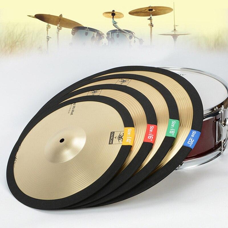 14 16 18 20 Inch Cymbal Mute Circle Ring Drum Set Hi-hat Practice Silencers