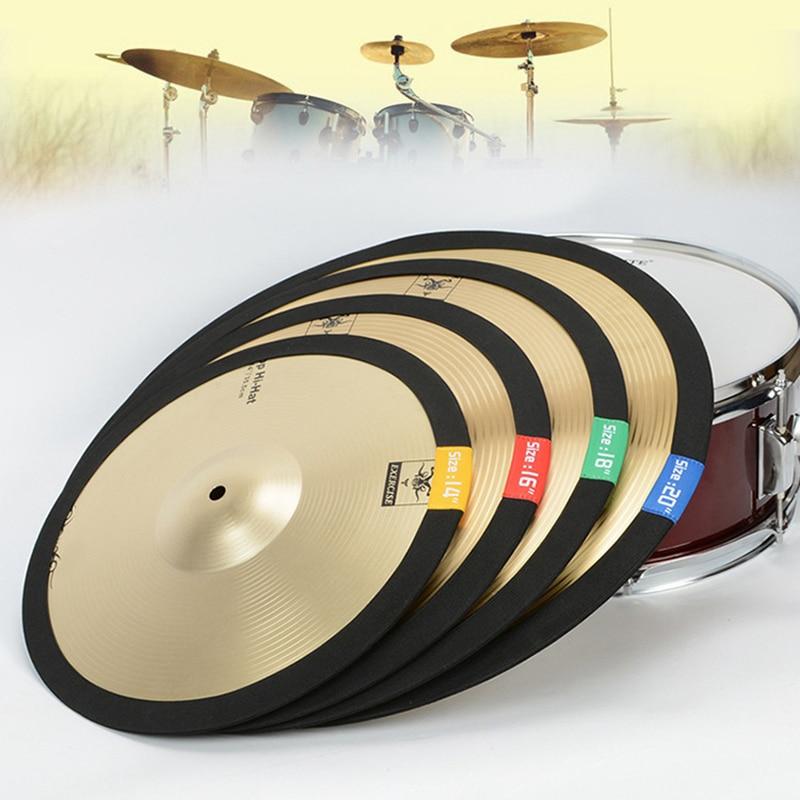 14 16 18 20 Inch Portable Lightweight Polyester Fibre Cymbal Mute Circle Ring Drum Set Hi-hat Practice Silencers Pad Dampener