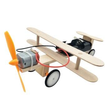 Kids DIY Science Toys Educational Scientific Experiment Kit plane  aircraft  Model Physics School STEM Projects мельниченко м пер самые чудесные сказки