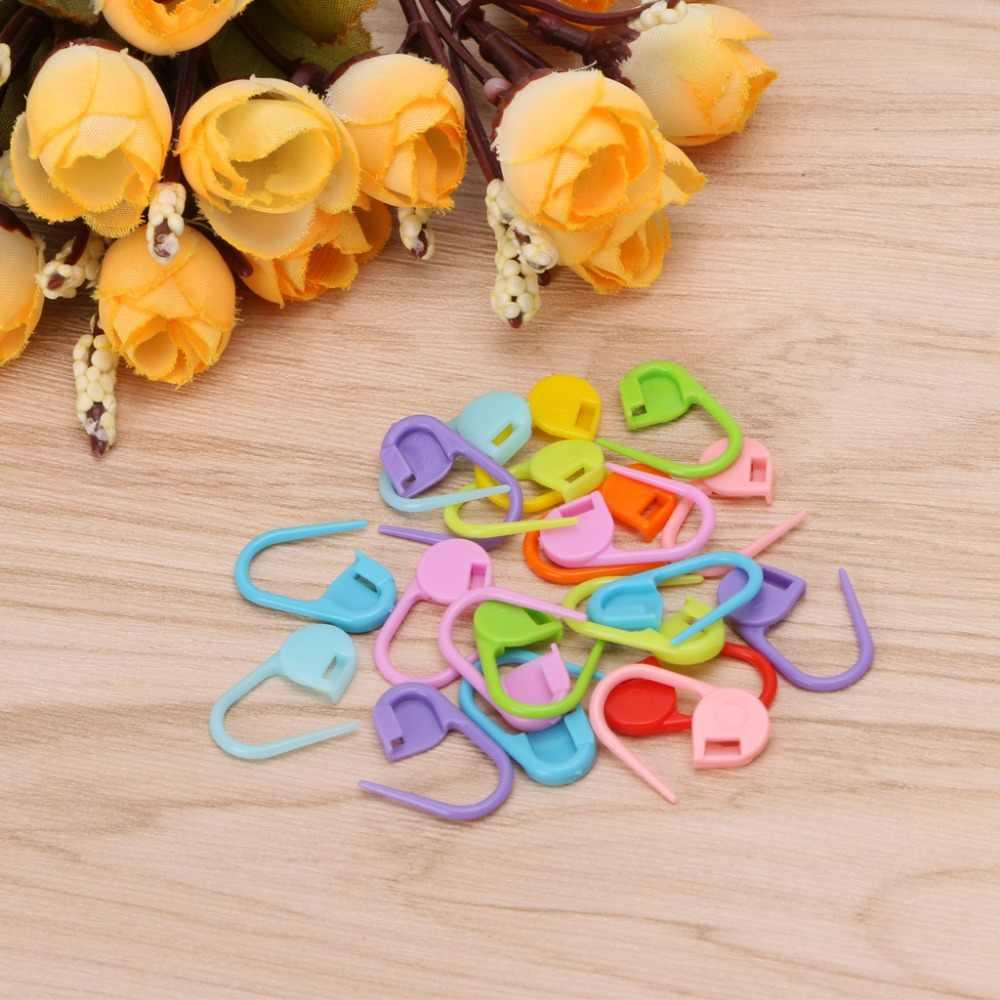 20Pcs Colorful Knitting Stitch Markers Crochet Chiusura del Mestiere Strumento Anello di Supporto