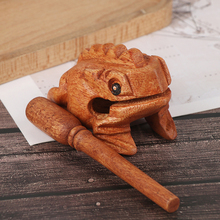 Animal Money Frog Clackers Kids Musical Instrument Percussion Toy Gift Children Toys Gift Wooden Lucky Frog Toy