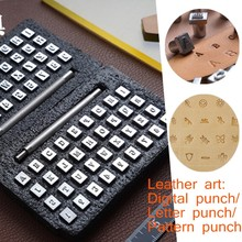37 Metal letters and numbers/pattern stamp Punch Set for Leather Craft Printing Tools 3.5/6.5MM,DIY Leather Stamping Tool Set,