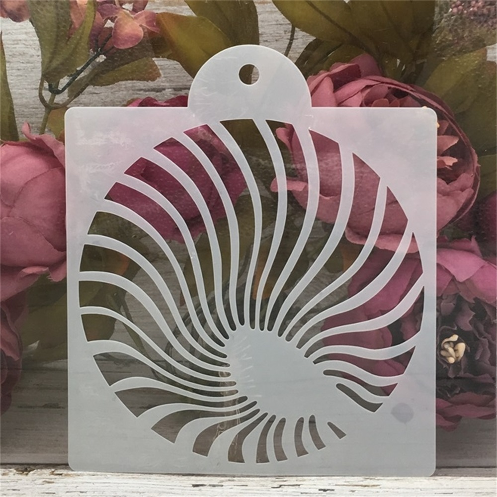 15*17.5cm Round Wavy DIY Craft Layering Stencils Painting Scrapbooking Stamping Embossing Album Paper Card Template