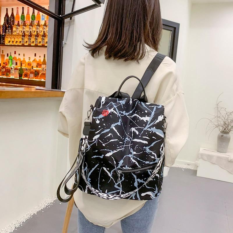 Waterproof Oxford Women Backpack Fashion Anti-theft Women Backpacks