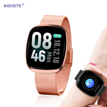 купить AIDISITE New IPS Color Touch Smart Watch Women 1.3 inch Heart Rate Blood Pressure Monitor GPS Smartwatch For Android IOS по цене 1964.1 рублей