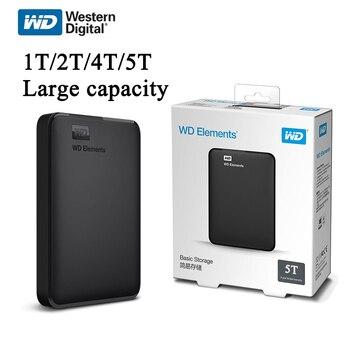 Western Digital WD Element жесткий диск, HDD 2,5  ТБ 2 ТБ 4 ТБ 5 ТБ HDD USB 3,0 портативный внешний жесткий диск для хранения
