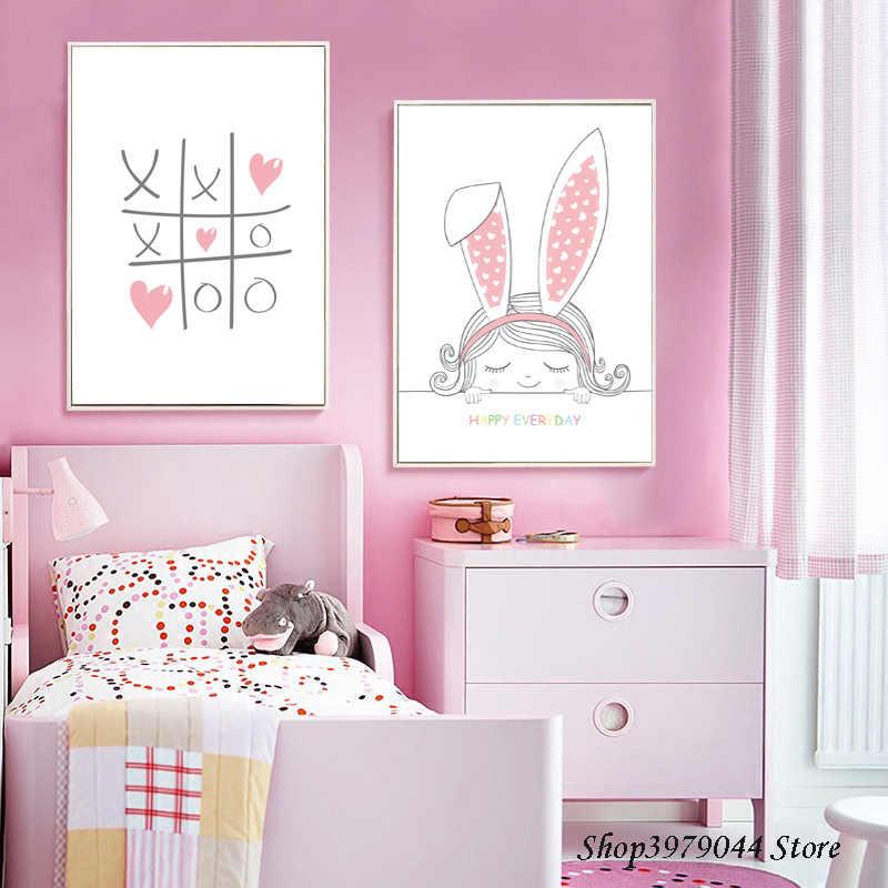Pink Rabbit Baby Room Decor
