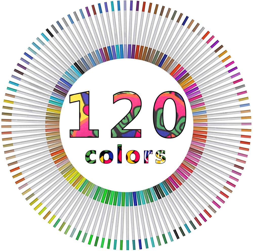 Bolígrafos con punta de fieltro de hasta 120 colores, bolígrafos coloridos para adultos, paquete de pincel para acuarela, incluye Punta de cepillo de 2mm y punta fina de 0,4mm