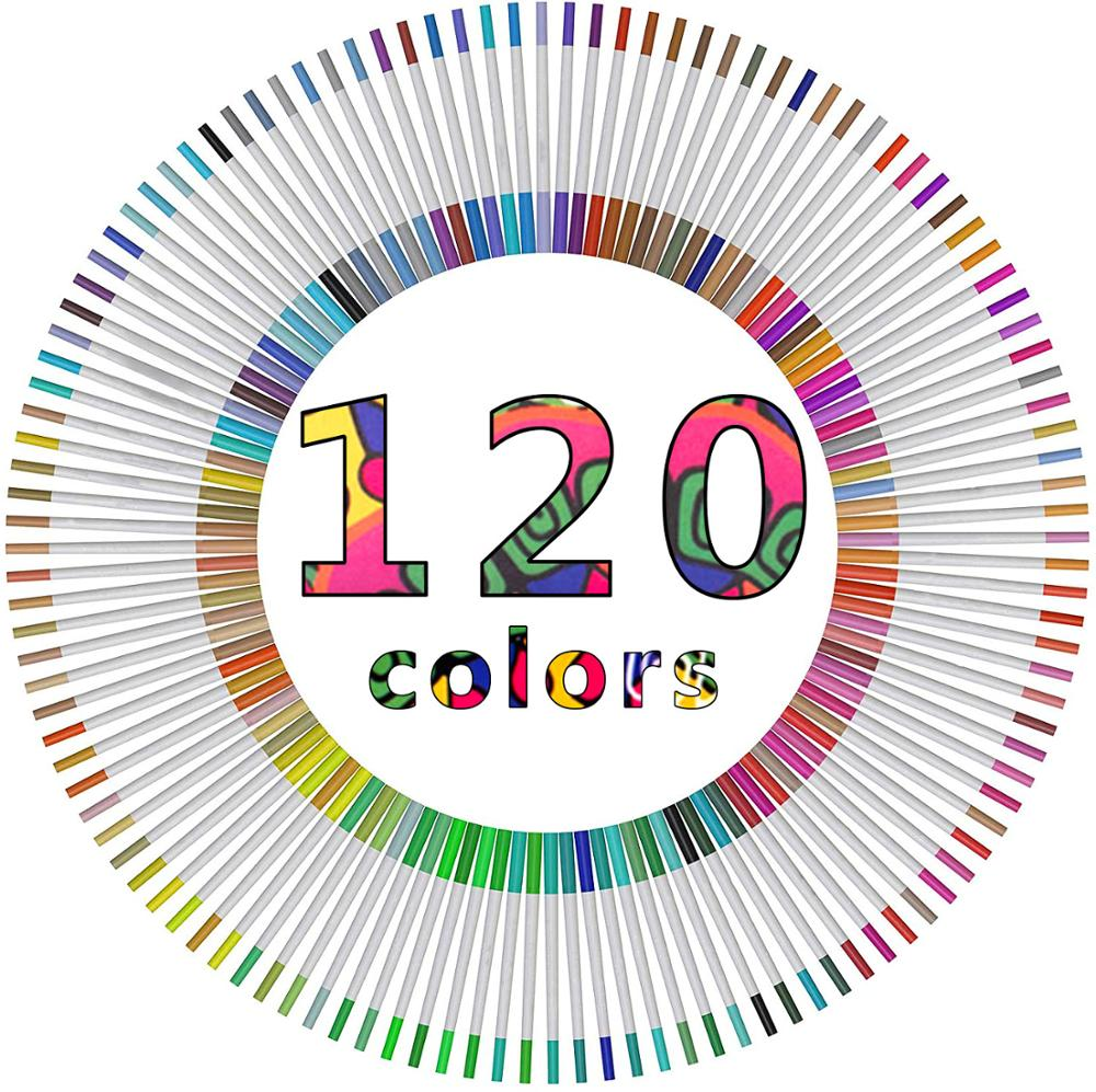 UP To 120 Colors Felt Tip Pens Colouring Pens For Adults Pack Watercolour Brush Pens Include 2mm Brush Tip And 0.4mm Fine Tip