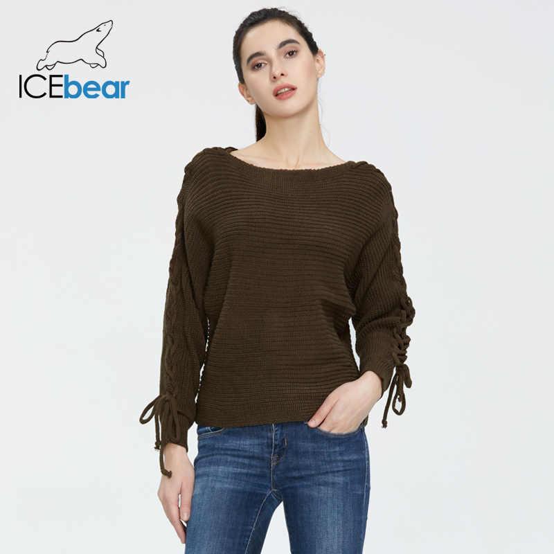 Icebear 2020 봄 새로운 긴 소매 레이스 니트 여성 풀오버 스웨터 AW-039