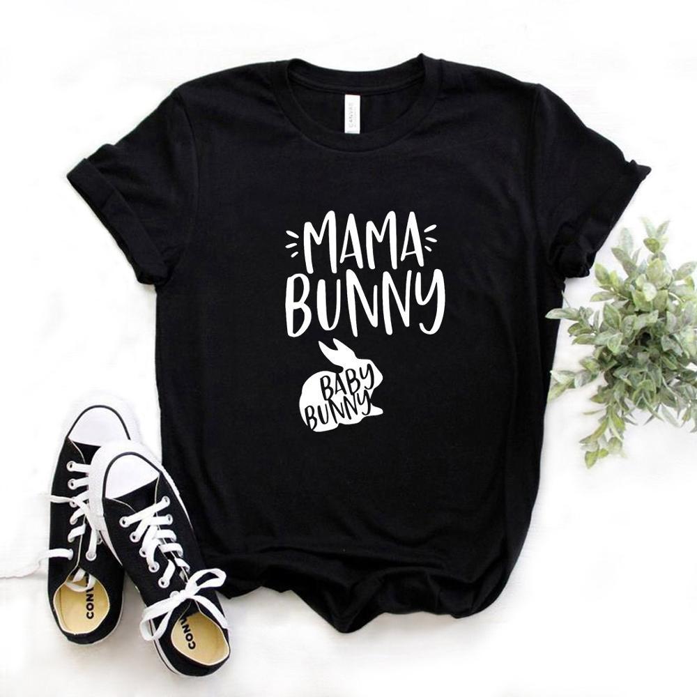 Mama Bunny Print Women T Shirt Cotton Casual Funny T Shirt Gift For Fenale