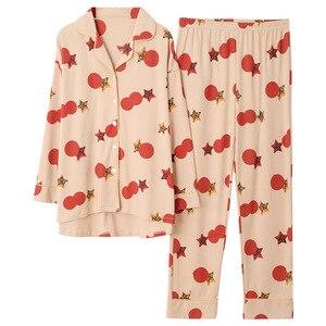 Image 2 - Vestiti delle donne per Lautunno inverno Pigiama Set di indumenti da notte del fumetto Bello Pigiama Mujer Manica Lunga In Cotone Sexy Pigiama Donna