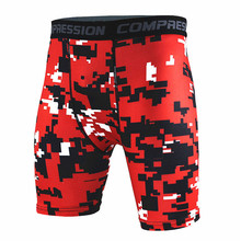 Mens Camouflage Tight Shorts Running Training Compression Quick-drying Pants Gym Jogging Fitness Workout Bermuda Size S-XXXL