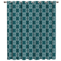 Modern Geometric Mesh Window Curtains Dark Living Room Blackout Outdoor Indoor Drapes Decor Kids Curtains And Drapes Curtain