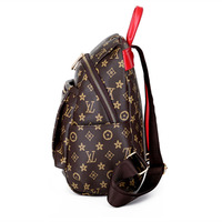 2019 New style backpack women's versatile Stylish large volume printed sling bag crossbody bag casual travel bag STUDENT'S bag w