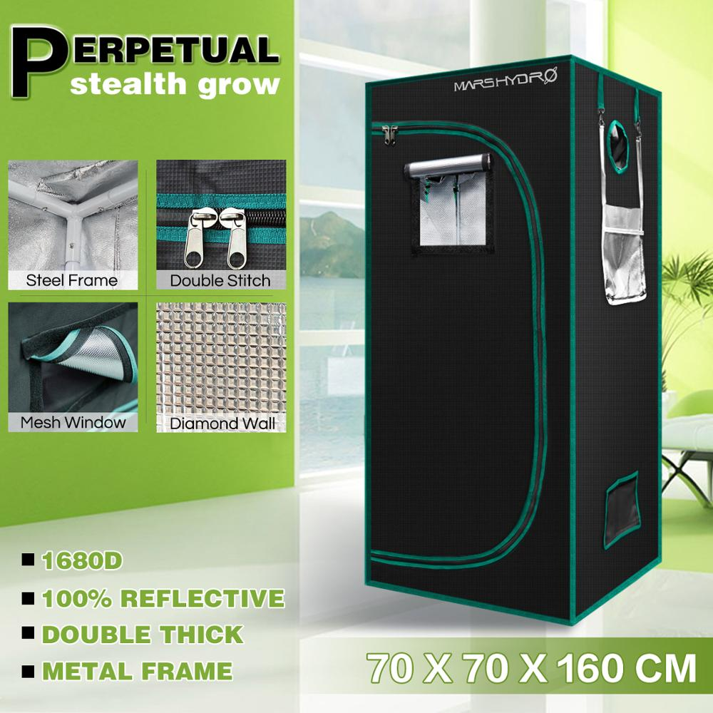 MarsHydro 1680D 70x70x160cm Grow Tent Diamond Reflective Mylar, Indoor Hydroponics Grow Tent (27''x27''x63'')