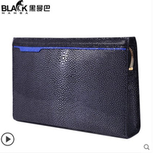 gete Pearl fish clutch Men's business handbag 2019 new large capacity grasp European and American fashion youth men clutch bag gete new crocodile handbag fashion luxury european and american leather handbag bag socialite high capacity female bag