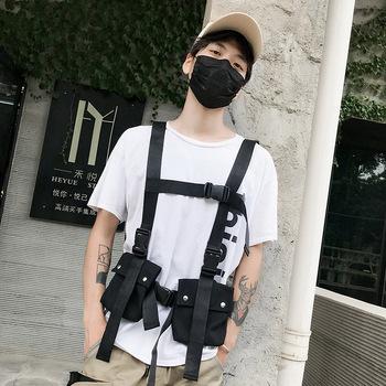Regulowana kamizelka taktyczna Streetwear typy skrzynia Rig saszetka męska kamizelka wojskowa paczka etui kabura dwukierunkowa torba płócienna tanie i dobre opinie Wiosna Lato AUTUMN Pasuje prawda na wymiar weź swój normalny rozmiar Other Polyester Oxford Tactical vest tactical vest bag