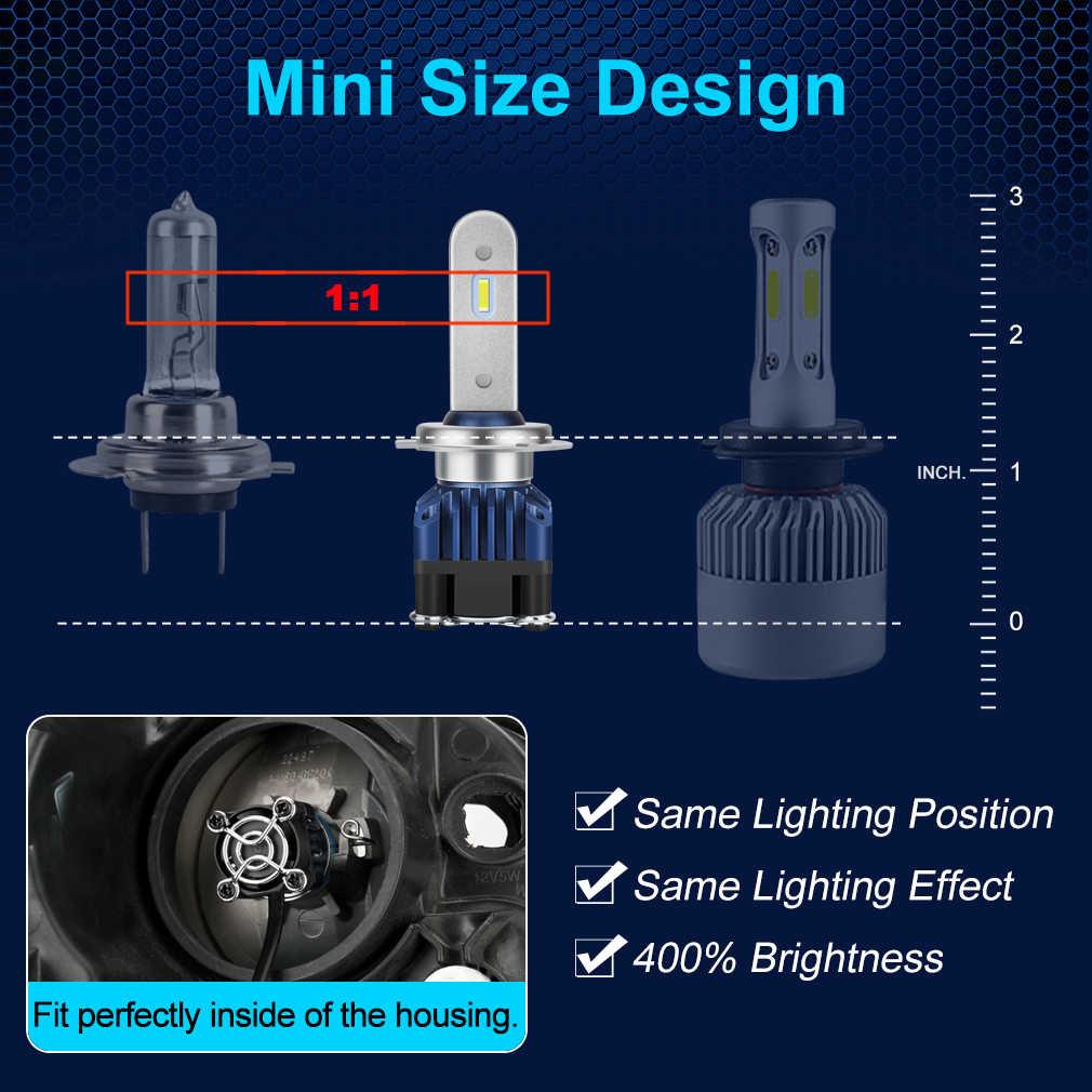 H4 LED Headlight Bulb H1 H7 9005 HB3 9006 HB4 H11 H8 LED Canbus 6000K 12000LM Car Light Auto Lamp luces Super Turbo LED H4 12V