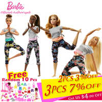 Barbie Newest Girl Toys 22-point articulated wrist 30cm Barbie Doll Limitless Movement Fans Collection Yoga Modeling Brinquedos