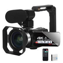 Câmera de vídeo youtube câmera para vlogging 4k filmadora wifi ultra hd 30fps 48mp 16x zoom digital câmera de vídeo conferência