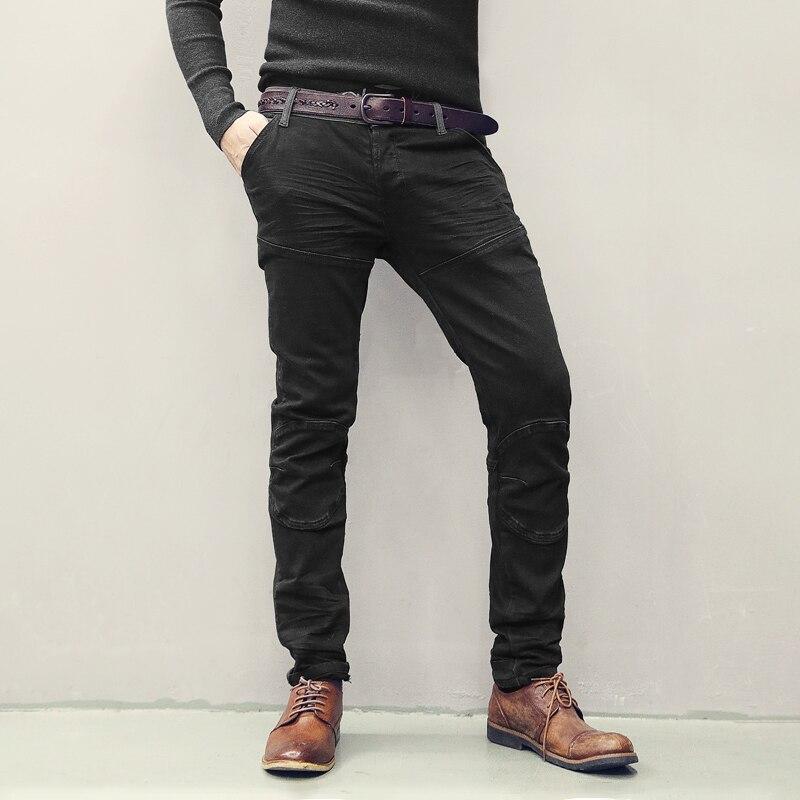 MIX MAN Brand 2019 New Men's Fashion Jeans Business Casual Stretch Slim Jeans Classic Trousers Denim Pants Male Black  K755