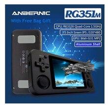 ANBERNIC RG351M Wifi PS1 רטרו משחק קונסולת 128G 10000 משחקים RG351P שדרוג גרסת PS GB N64 כיס כף יד משחק נגן מתנות