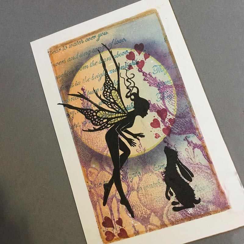 Fairy กระต่ายใสซิลิโคนสำหรับ DIY Scrapbooking/การ์ดทำ/งานฝีมือเด็กสนุกอุปกรณ์ตกแต่ง