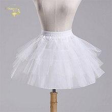 Высокое качество,, белая и черная балетная юбка-пачка, фатиновая короткая кринолиновая юбка для невесты, детский подъюбник для девочек, jupon