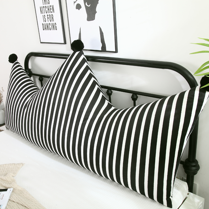Ins Crown Bed Head Big Backrest Princess Pillow Tatami Soft Pack Double Long Cushion Children Pillow Removable