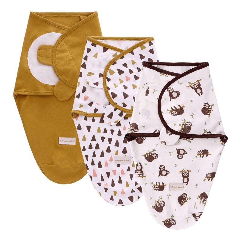 3 предмета в комплекте, хлопковый комплект в виде кокона, Пеленальное Одеяло Конверт Сумка на выписку для новорожденных Детские спальные детские экстракт конверт младенцев аксессуары