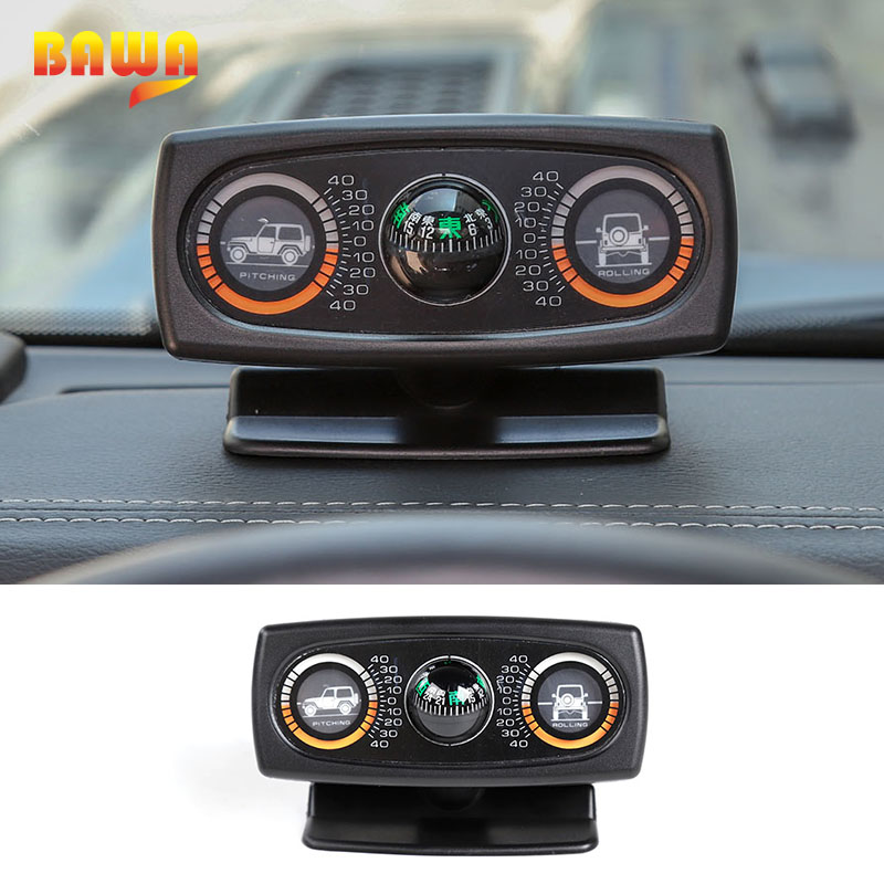 BAWA Universal Vehicle Compass Slope Measure Instrument Compass Car Inclinometer Level Accessories For Off-Road Vehicle SUV