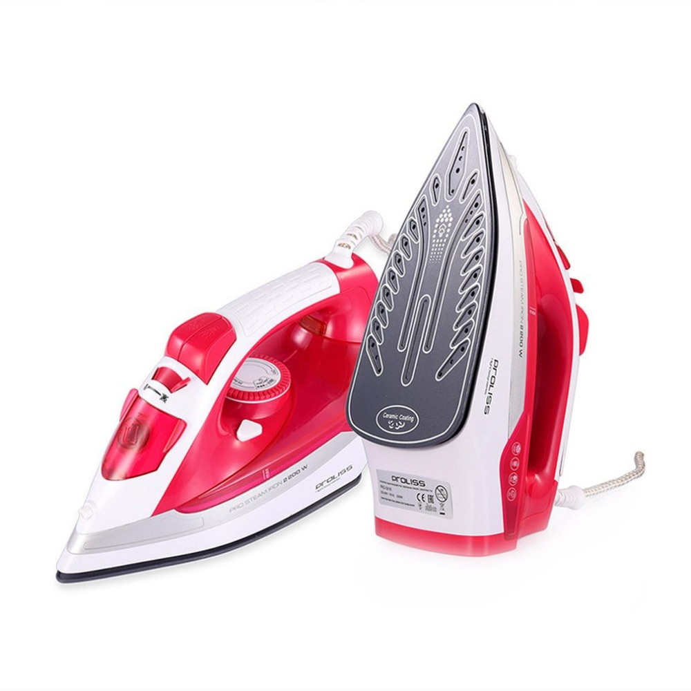 Electric Steam Iron Ceramic Baseplate Steamer Mini Portable Handheld Clothes Iron For Travel Household Appliance
