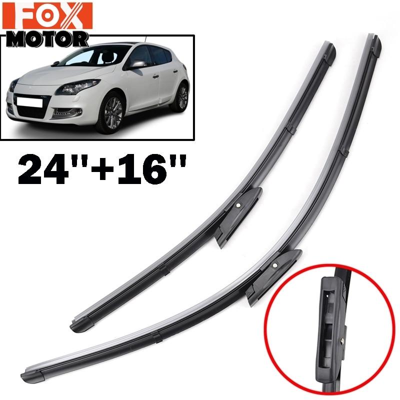 2 x Blades CLIO Hatchback Jun 2005 Onwards Windscreen Wiper Blade Kit