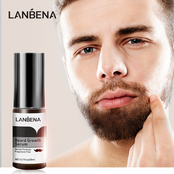 LANBENA Beard Growth Serum Preventing Baldness Consolidating Achieve Fuller Anti Hair Loss Nourish Roots thicker Hair Care 20ml image