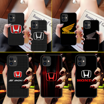 Honda car logo Phone Case Cover Hull For iphone 5 5s se 2 6 6s 7 8 11 12 mini plus X XS XR PRO MAX black Etui luxury coque image