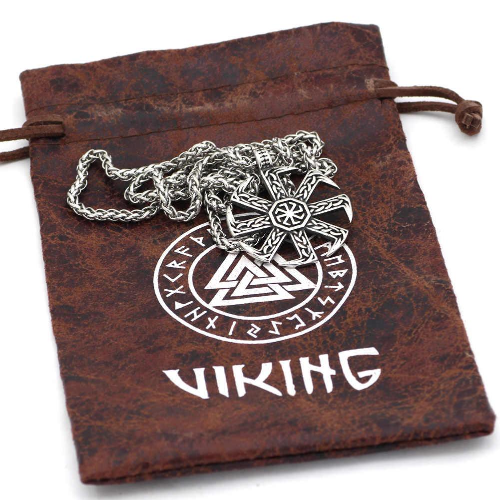 Kolovrat Knot Amulet Slavs สแตนเลสจี้สร้อยคอ