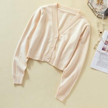Ailegogo New 2019 Autumn Winter Women's Sweaters Cardigans Minimalist Knitting Tops Fashionable Korean Style Ladies SW8864 4