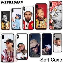 WEBBEDEPP 21N Chris Brown Soft Phone Case for iPhone X XR XS 11Pro Max 7 8 6S Plus 5S SE 8Plus 7Plus 11 Pro Cases