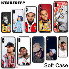 цены на WEBBEDEPP 21N Chris Brown Soft Phone Case for iPhone X XR XS 11Pro Max 7 8 6S Plus 5S SE 8Plus 7Plus 11 Pro Max Cases в интернет-магазинах