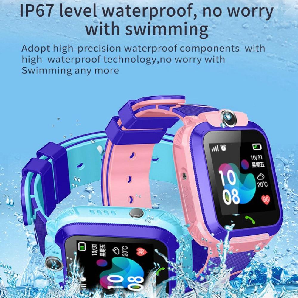 Q12 Waterdichte Kinderen Slimme Horloge Sos Antil-Verloren Smartwatch Baby 2G Sim-kaart Klok Oproep Locatie Tracker Smartwatch pk Q50 Q90 4