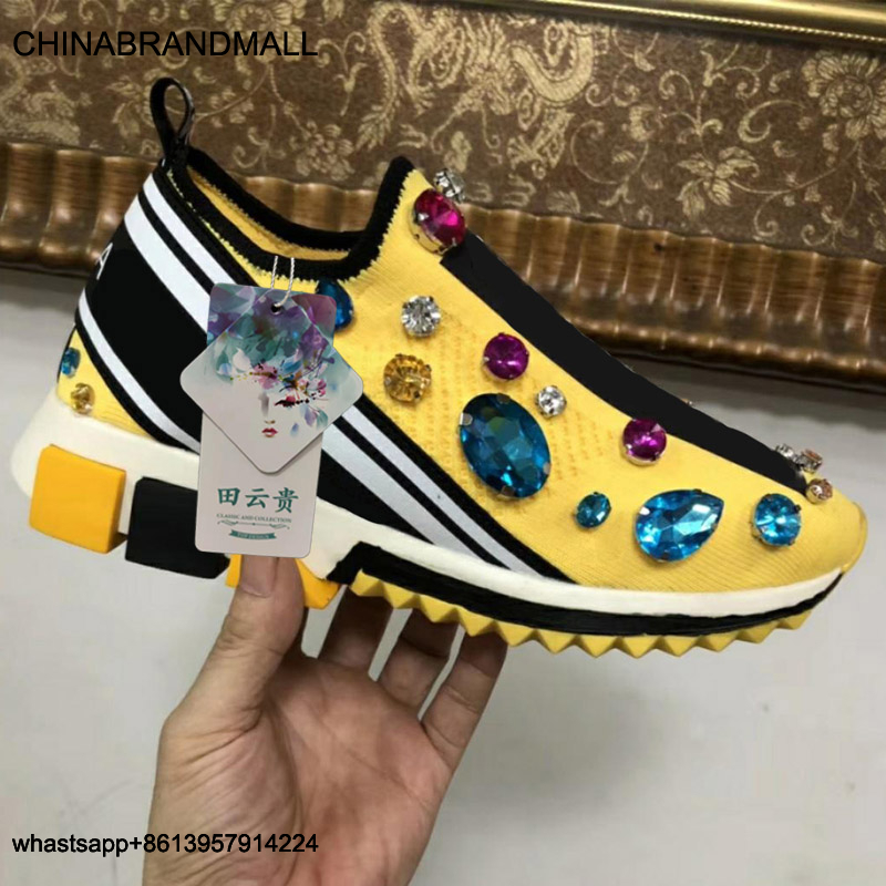 Zapatos de plataforma para verano, zapatillas sin cordones para mujer 35-44, marca de diseñadores de lujo, zapatos planos informales para mujer 2020, negro, blanco y amarillo