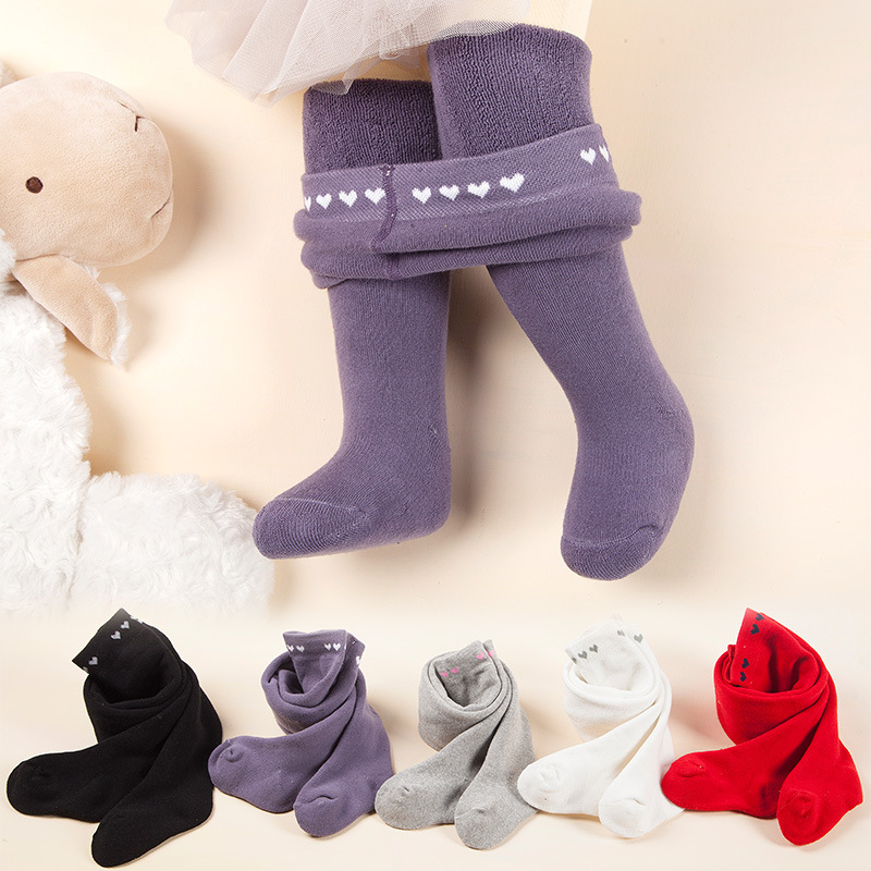 0-18M 3Color Newborn Baby Girls Tights Winter Baby Stockings Cotton Long Tube Tights Princess Infant Newborn Pantyhose Stockings