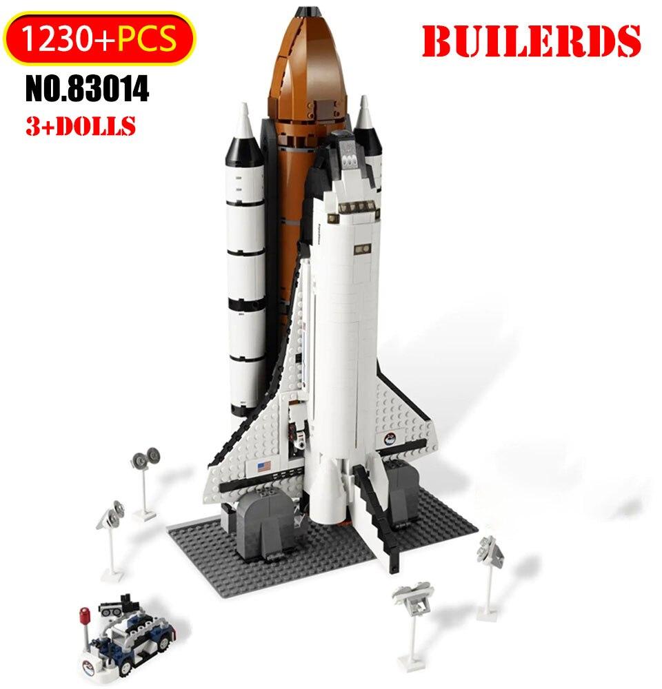 1230 шт. челнок экспедиция модель строительные блоки освоения космоса самолет ракета техника кирпичи совместимые игрушки