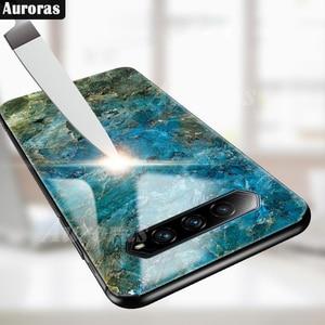 Image 4 - Auroras For BlackShark 4 Pro Case Tempered Glass Soft Silicone Frame Cover Marble Print For Black Shark 4 Cover Funda