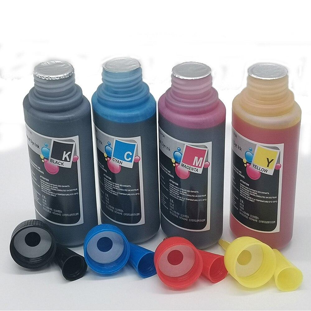 Универсальный 100 мл x4 набор заправки чернил, красителей для эпсоны камер Canon HPs братьев DELLs кодакс струйный принтер с системой СНПЧ картридж ч...