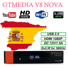 DVB-S2 1080P HD GTmedia V8 Nova Cccam Cline Satellite TV Receiver Built in WIFI by Freesat V8 Super cccam Europe Cline freesat cccam cline europe dvb s2 freesat v7 satellite tv receiver set top box dvb s2 support powervu cccam youporn with usb wifi